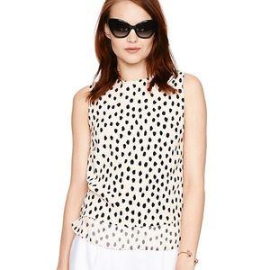 Kate Spade | Leopard Dot Layered Silk Tank